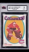 1971/72 OPC Ken Dryden RC Rookie Hockey Sports Card KSA 9 Mint!