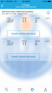 Edmonton Oilers vs Montreal Canadians March 12 Game Tickets