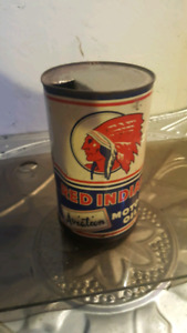 Red indian aviation oil w20 can