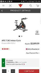 AFG 7.3IC Indoor Cycle exercise bike 700$ obo Cornwall Ontario image 1