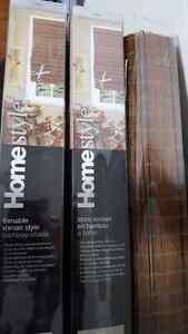 Bamboo Roman style shades Cambridge Kitchener Area image 1