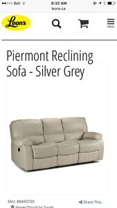 Reclining leather sofa, loveseat and chair. Peterborough Peterborough Area image 1