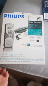 BNIB philips voice recorder - writers set