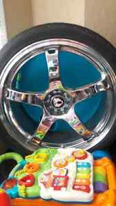 Chrome low profile tire & rim