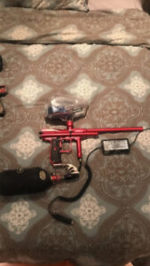 Angel A4 Fly paintball marker with tank and hopper $600 o.b.o.