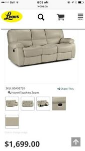 Reclining leather sofa, loveseat and chair. Peterborough Peterborough Area image 4