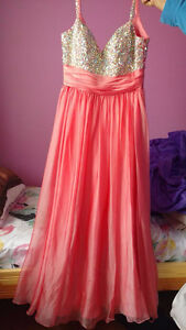 PINK, CORAL PROM DRESS