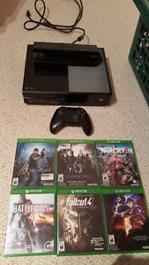 Xbox one and kinect with 7 games