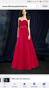 Alfred angelo cherry red dress 8107L
