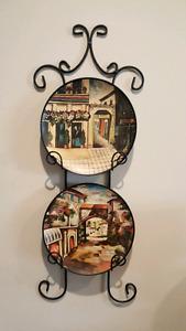 Beautiful Spanish Flair Plates and Plate Display
