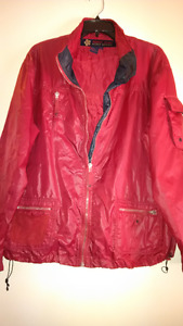 Point Zero - Red Windrunner Jacket For Women Size XL/TG
