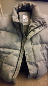 Fog coat downfilled size small
