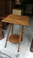 Antique Wood Accent Side Table
