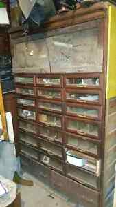 antique wooden mail cabinet Kitchener / Waterloo Kitchener Area image 1