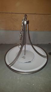 Brushed Steel Bowl Chandelier