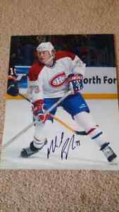 Signed Michael Ryder Montreal Canadiens Hockey Photo w/ COA