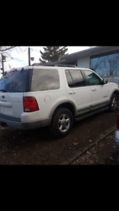 2002 Ford Explorer. Great winter vehicle.