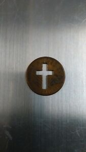 US Penny with Cross Cutout Kitchener / Waterloo Kitchener Area image 1