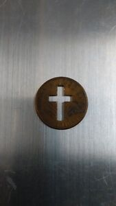 US Penny with Cross Cutout