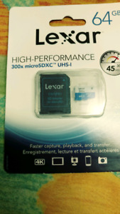Micro SD 64 GB High performance 300X microsdxc uhs-1, class 10