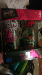Joker and Harlem shot glasses DC