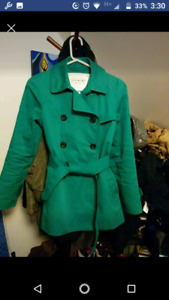 Green Coach trench style coat