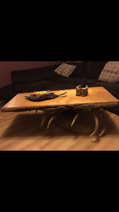 Elk/Wood coffee table ~ Athabasca ~