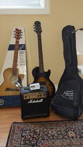 electric + acoustic guitar bundle