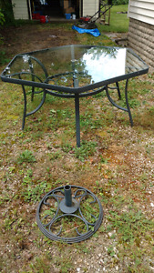Patio Table and umbrella stand