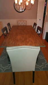Gorgeous Industrial Style Dining Table!
