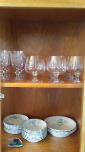 Waterford Crystal Glasses & Johnson Bros Fine China