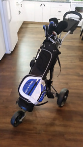 Complete Dunlop golf set with cart