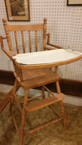Wood granite high chair 75 for display