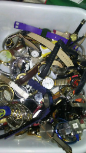 Large amount of watches