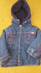 Fleece lined denim jacket 18M - 2T
