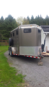 FOR RENT  2 Horse Trailer with Tack room