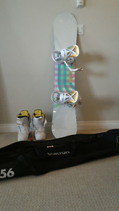 Burton Snowboard, Bindings, Boots & Bag - BARELY USED