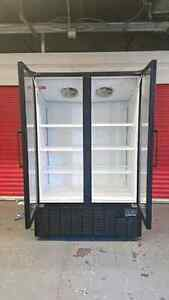 HEAVY DUTY DOUBLE DOOR GLASS FREEZER ( MADE IN U.S.A )