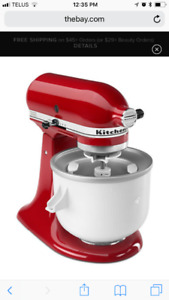 Almost new Kitchen aid stand mixer ice cream attachment