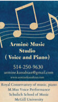 Music Lessons, voice & piano