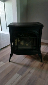 Old fashion cast iron fire place