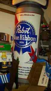 Pabst Blue Ribbon PBR BEER collectable 4 foot shelf
