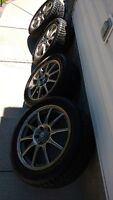 225/50/17 Winter tires and alloy rims 5x114.3 bolt pattern