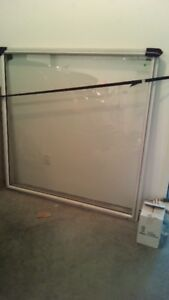 Window with thermopane double glass and frame.New.Free.