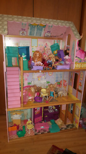 Large Barbie house with loads of extra