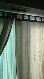 Curtains, 3 sets, including sheer and black out