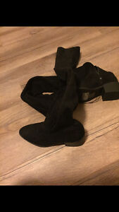 Knee High Black Suede Boots London Ontario image 3