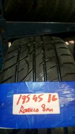 195 45 16 MATCHING ROVELLO TYRES 8MM X4 £120 INC FIT N BAL OPN 7 DAYS