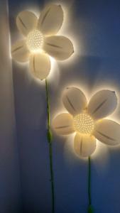 Lumières murale (3) d'IKEA fleurs