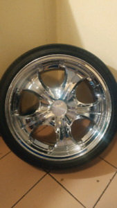 17'Falken rims with Goodyear tires